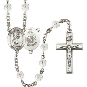 St Christopher-Marines Rosary - Crystal Beads (#R15565)