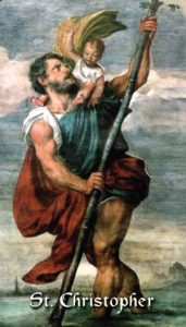 St Christopher Carrying Child