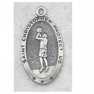 Basketball Medal In Sterling Silver 10742