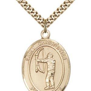 Christopher Archery Medal Large 14 Karat Gold Filled 85810
