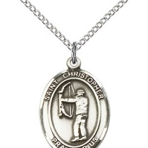Christopher Archery Medal Medium - Sterling Silver (#86121)