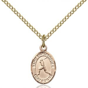 Christopher Baseball Medal Charm 14 Karat Gold Filled 86326