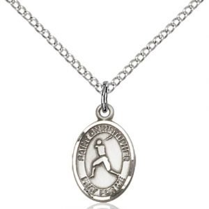 Christopher Baseball Medal Charm Sterling Silver 86329