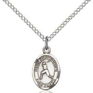 Christopher Baseball Medal Charm Sterling Silver 86329