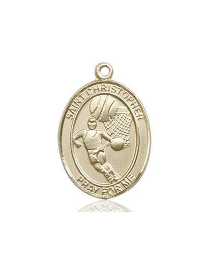 Christopher Basketball Medal Medium 14 Karat Gold 86156