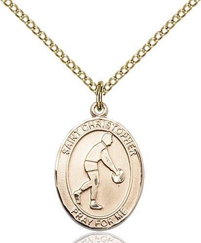 Christopher Basketball Medal Medium 14 Karat Gold Filled 85982