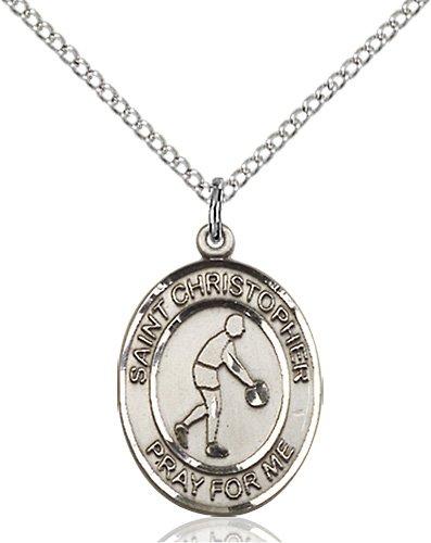 Christopher Basketball Medal Medium - Sterling Silver (#85985)