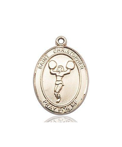 Christopher Cheerleading Medal Medium 14 Karat Gold 85952
