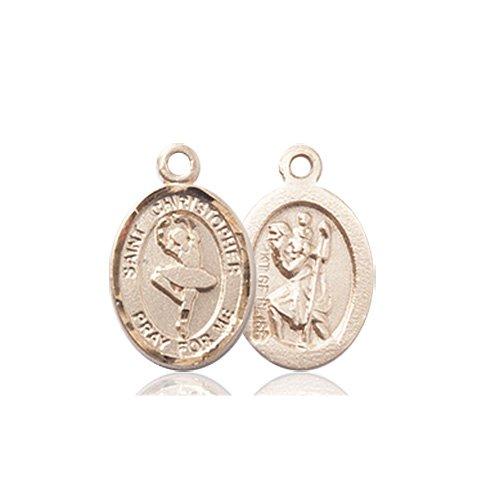 Christopher Dance Medal Charm 14 Karat Gold 86312