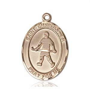 Christopher Field Hockey Medal Large 14 Karat Gold 85832