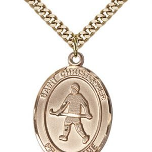 Christopher Field Hockey Medal Large 14 Karat Gold Filled 85830