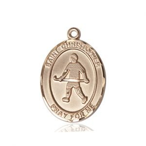 Christopher Field Hockey Medal Medium 14 Karat Gold 86140