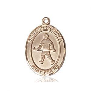 Christopher Field Hockey Medal Medium 14 Karat Gold 86140