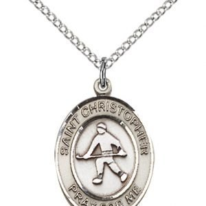 Christopher Field Hockey Medal Medium - Sterling Silver (#86141)