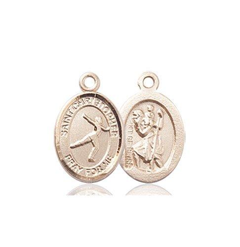 Christopher Figure Skating Medal Charm 14 Karat Gold 86300