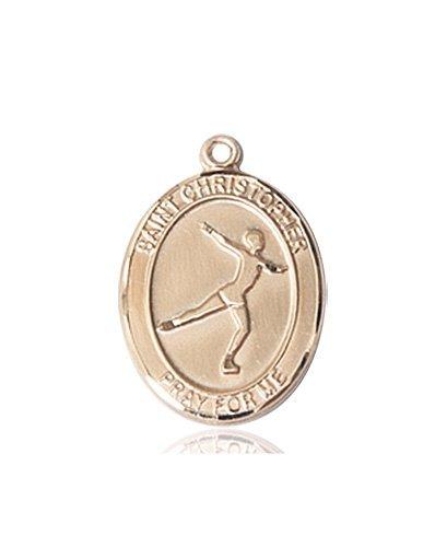 Christopher Figure Skating Medal Medium 14 Karat Gold 85948