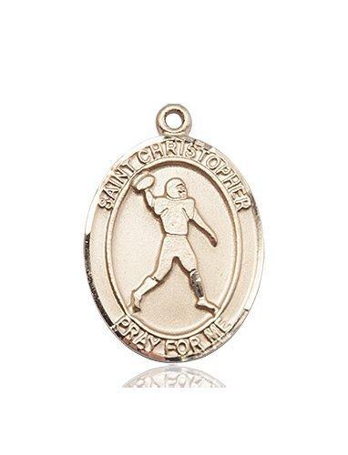 Christopher Football Medal Large 14 Kt Gold 86750