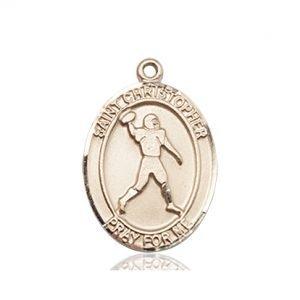 Christopher Football Medal Medium 14 Kt Gold 86770