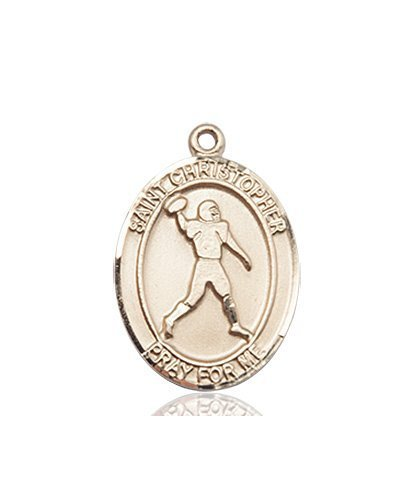 Christopher Football Medal Medium 14 Kt Gold 86770