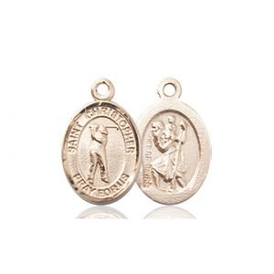 Christopher Golf Medal Charm 14 Karat Gold 86332