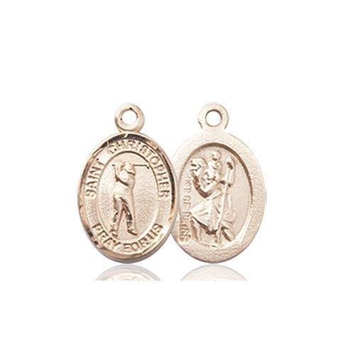 Christopher Golf Medal Charm 14 Karat Gold 86332