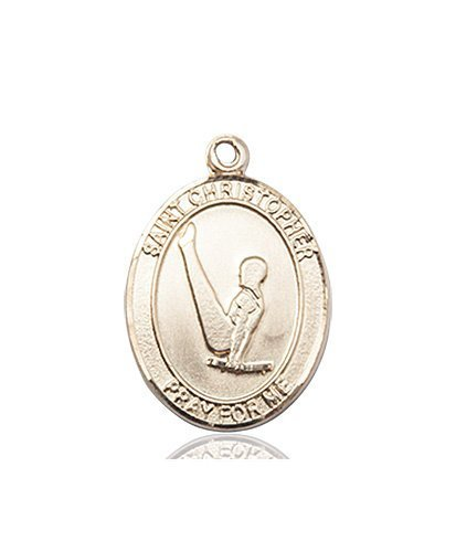 Christopher Gymnastics Medal Medium 14 Karat Gold 85956