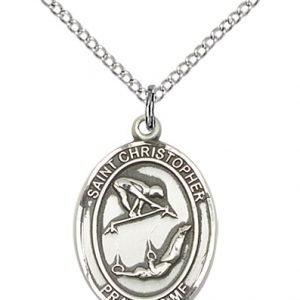 Christopher Gymnastics Medal Medium - Sterling Silver (#86201)