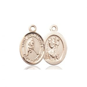 Christopher Hockey Medal Charm 14 Karat Gold 86344