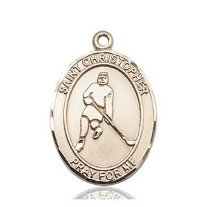 Christopher Hockey Medal Large 14 Karat Gold 85718
