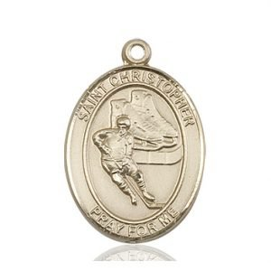 Christopher Hockey Medal Large 14 Karat Gold 85856