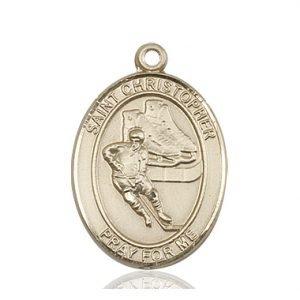 Christopher Hockey Medal Large 14 Karat Gold 85856