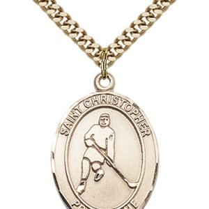 Christopher Hockey Medal Large - Gold Filled (#85716)