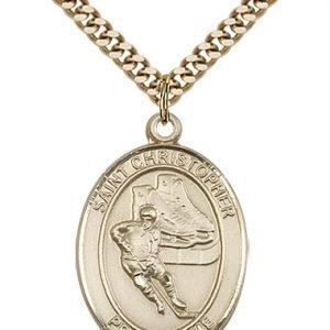 Christopher Hockey Medal Large - Gold Filled (#85854)