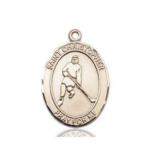Christopher Hockey Medal Medium 14 Karat Gold 85992