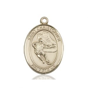 Christopher Hockey Medal Medium 14 Karat Gold 86164