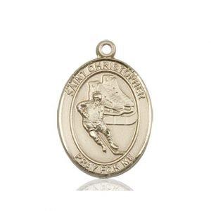 Christopher Hockey Medal Medium 14 Karat Gold 86164