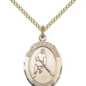 Christopher Hockey Medal Medium 14 Karat Gold Filled 85990
