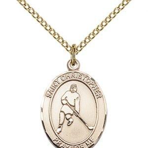 Christopher Hockey Medal Medium 14 Karat Gold Filled 85990
