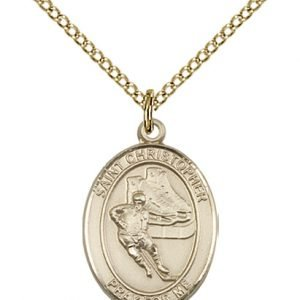 Christopher Hockey Medal Medium 14 Karat Gold Filled 86162