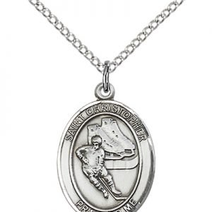 Christopher Hockey Medal Medium - Sterling Silver (#86165)