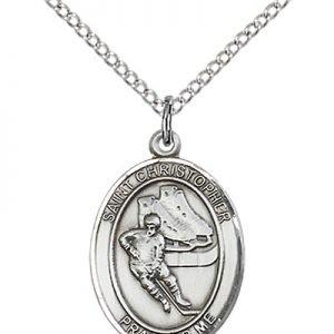 Christopher Hockey Medal Medium - Sterling Silver (#86165)