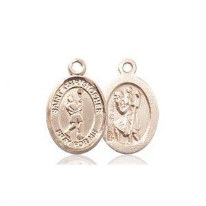 Christopher LaCrosse Medal Charm - 14 Karat Gold (#86316)