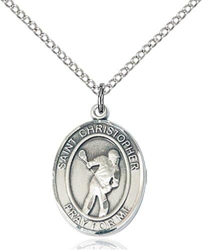 Christopher Lacrosse Medal Medium Sterling Silver 86209