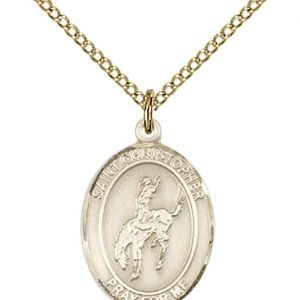 Christopher Rodeo Medal Medium 14 Karat Gold Filled 86126