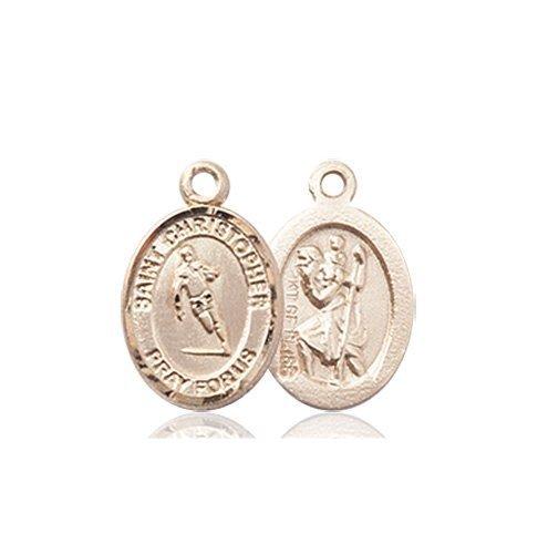 Christopher Rugby Medal Charm 14 Karat Gold 86488