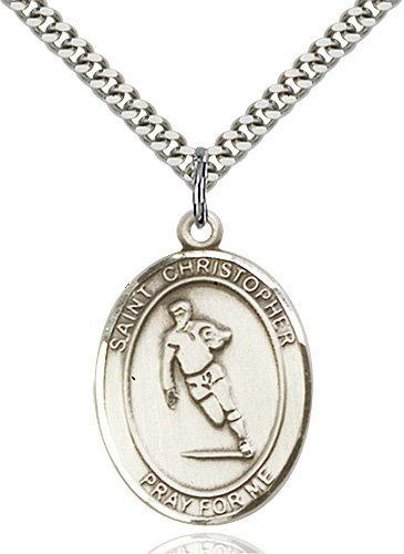 Christopher Rugby Medal Large Sterling Silver 85829