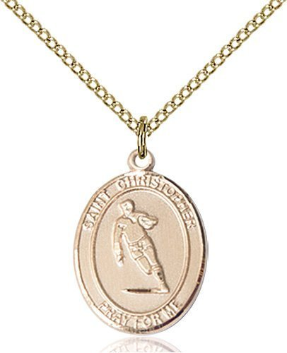 Christopher Rugby Medal Medium - 14 Karat Gold Filled (#86134)