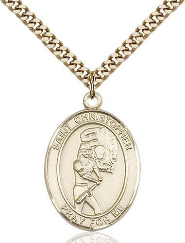 Christopher Softball Medal Large 14 Karat Gold Filled 85866