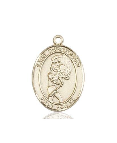 Christopher Softball Medal Medium 14 Karat Gold 86176