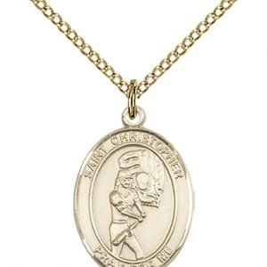 Christopher Softball Medal Medium 14 Karat Gold Filled 86174